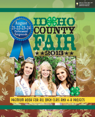 Click here for the full Idaho County Fair Premium Book