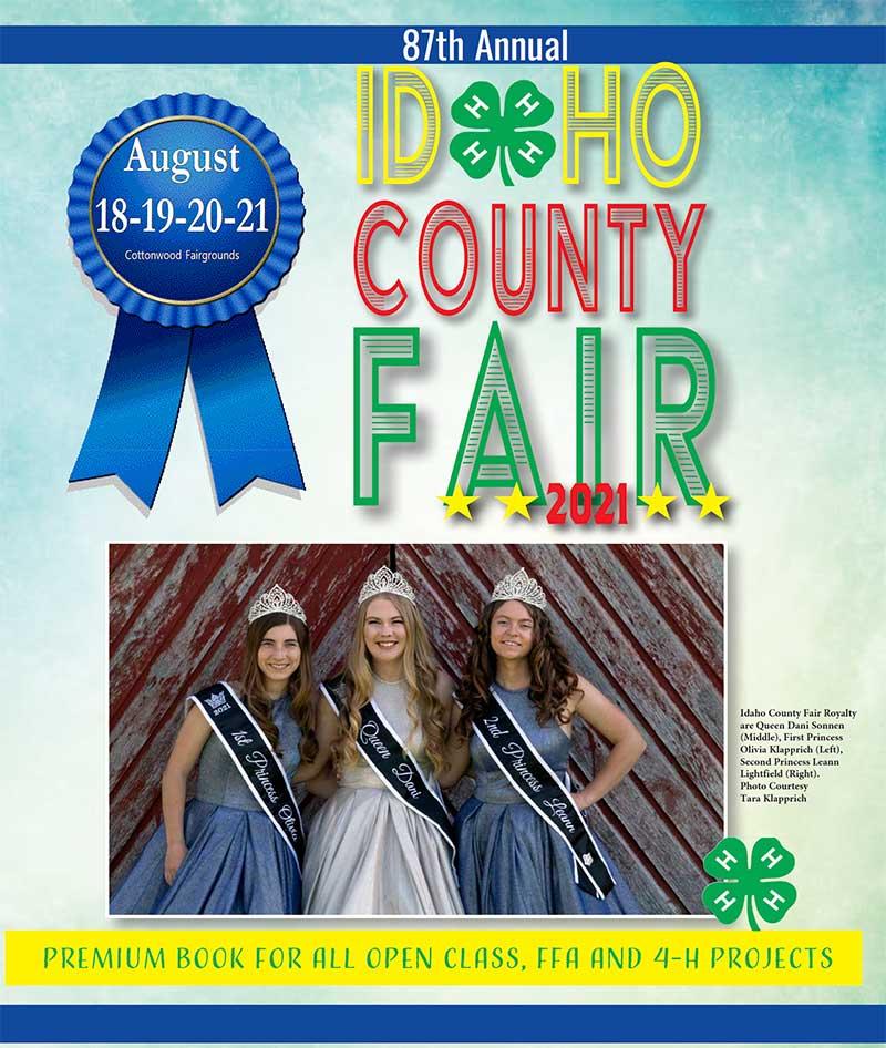 2021 Idaho County Fair Premium Book Cover